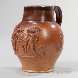 Dated Brown Stoneware Jug