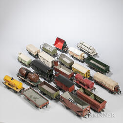 Twenty-one Marklin Pre-war Train Cars