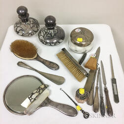 Approximately Twenty Sterling Silver Vanity Items