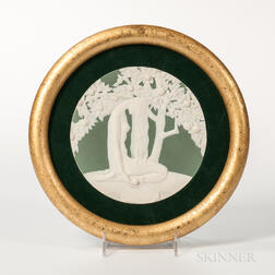 "Wedgwood Solid Green Jasper ""Eve"" Plaque"