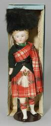 Bisque Shoulder Head Doll in Beefeater Costume