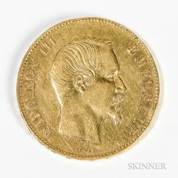 1858-A French 100 Francs Gold Coin