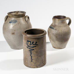 Three Pieces of Stoneware including Two Ohio Vessels
