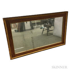 Empire Mahogany Veneer Overmantel Mirror