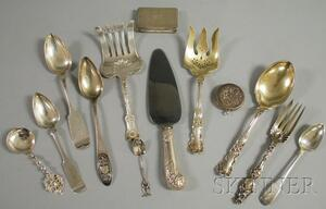 Group of Silver Flatware and Personal Items