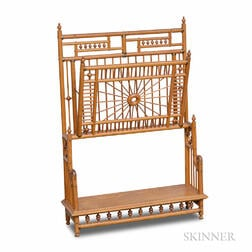 Aesthetic Movement Oak Magazine Rack
