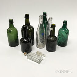 Fifty-four Spring and Mineral Water Bottles