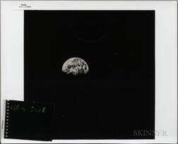 Apollo 8, Earth Rise, December 1968, Three Prints and One Slide.