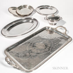 Eight Pieces of Christofle Silver-plate Tableware