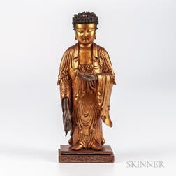 Gilt Lacquered Wood Buddha