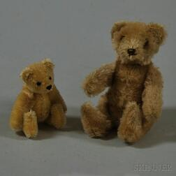Two Miniature Articulated Mohair Teddy Bears