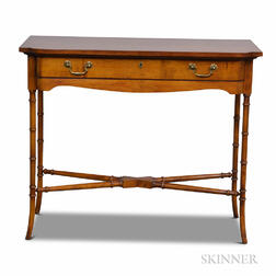 Wellington Hall Regency-style Mahogany One-drawer Console Table