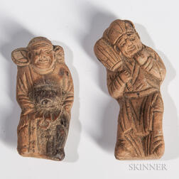 Two Miniature Terra-cotta Figures