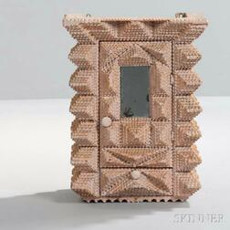 Tramp Art-style Wall or Chest Cabinet