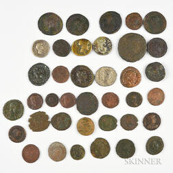 Thirty-eight Mostly Roman Ancient Coins