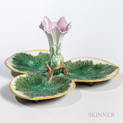 George Jones Majolica Leaf Dish