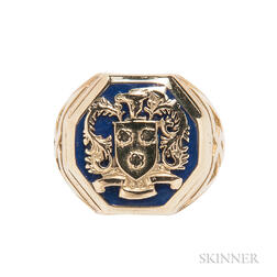 14kt Gold and Enamel Ring, Tiffany & Co.