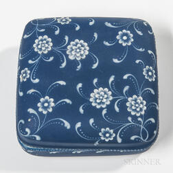 Wedgwood Harry Barnard Dark Blue Jasper Dip Box and Cover