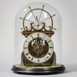 Ship's Wheel Balance Skeleton Clock