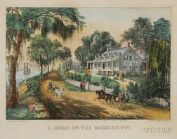 Currier & Ives, publisher (American, 1857-1907)      A Home on the Mississippi.
