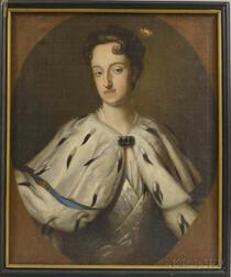 Continental School, 18th Century Style    Portrait of a Woman in an Ermine Cape