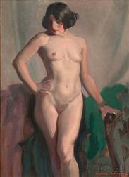 James Topping (American, 1879-1949)      Standing Female Nude