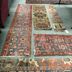 Seven Antique and Other Carpet Fragments