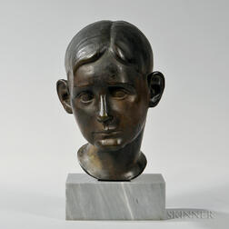 Axel Ericsson (American, 1869/70-1946)      Head of a Boy, Possibly the Artist's Son