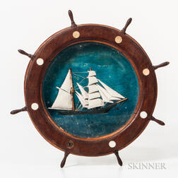Small Ship's Wheel Diorama