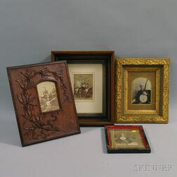 Four Framed Photographs of Musicians and Banjo Players