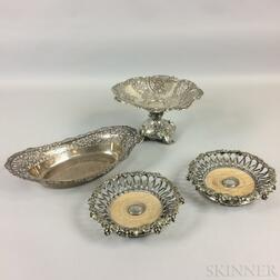 Four Pieces of Pierced Silver
