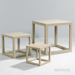 Three Contemporary Jonathan Adler Stacking Tables