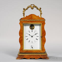 Veneered Time, Strike, and Alarm Carriage Clock