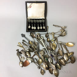 Group of Souvenir Spoons