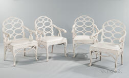 Four Frances Elkin (1883-1953) Loop Chairs