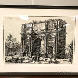 Three Framed Facsimiles of Roman Views After Giovanni Battista Piranesi (Italian, 1720-1778).    Estimate $300-500