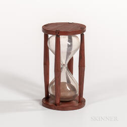 Red-painted Fifteen-minute Glass