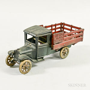 Painted Cast Iron Anchor Truck Co. Toy Truck