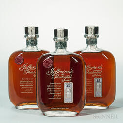 Jeffersons Presidential Select Bourbon 25 Years Old, 3 750ml bottles