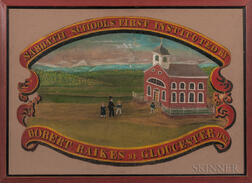 "Painted ""Sabbath School"" Banner"