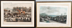 Six 19th Century Sporting Works on Paper: William Giller (British, 1805-after 1858), After William and Henry Barraud, The Meet at Badmi