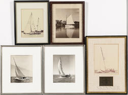 Five Vintage Sailboat Photographs