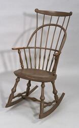 Painted Windsor Comb-back Rocking Chair