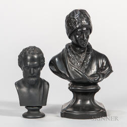 Two Black Basalt Busts