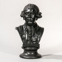Wedgwood Black Basalt Bust of Josiah Wedgwood
