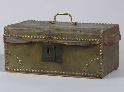 Small Green Leather Covered Trunk