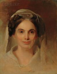 Thomas Sully (American, 1783-1872)      Portrait of Mrs. Lydia Biddle