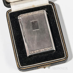 George IV Cased Sterling Silver Card Case