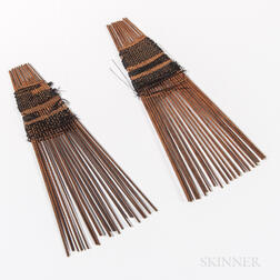 Two Tongan Hair Combs, Helu