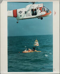 Apollo 9, Splashdown Recovery and Water Egress Training, Eight Photographs.
